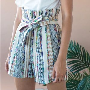 Eva Franco Mila shorts Morocco stripe nwot